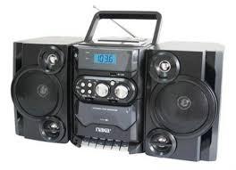 Portable CD MP3 Player AM/FM Radio Detachable Speakers Radios - Solid Signal