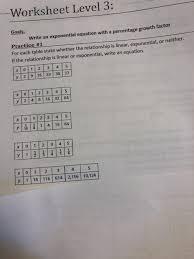 solved worksheet level 3 goals