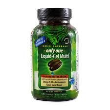 Irwin Naturals <b>Only One Liquid</b>-<b>Gel</b> Multivitamin with Iron 60 Gel Caps