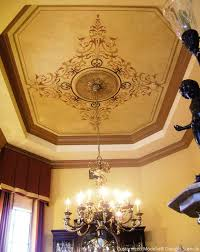 customized dining room ceiling by modello designs via barry harris paint pattern
