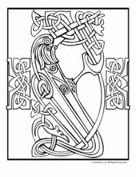 Irish Celtic Designs Coloring Pages Animal Jr