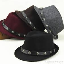 2019 new uni wool skull jazz church hat with leather wide brim panama cap protection sun hats for men and women from nbkingstar 45 12 dhgate com