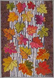 491 best Leaf Quilts ... images on Pinterest | Autumn quilts, Fall ... & Art Quilt -