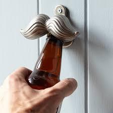 novelty wall mounted bottle opener mustache