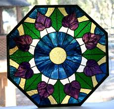 custom made stained glass window victorian octagon