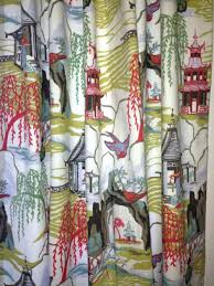 asian print curtains shower curtain hooks m l f fabric by the yard full size