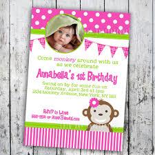 monkey birthday invitations net girl monkey birthday invitations a scart birthday invitations