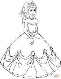 princess coloring sheets. Beautiful Sheets Princess In Ball Gown Dress And Coloring Sheets R