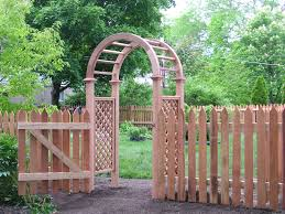 Small Picture Fascinating Arch Which Is Made Of Wood And Placed At Garden As