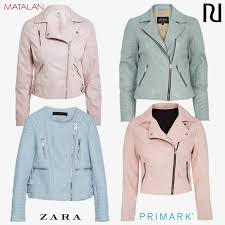 battle of the biker jackets baby pink v powder blue