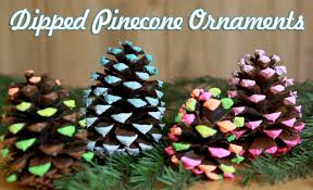 Pine Cone Christmas Decorations Dipped Pine Cone Ornaments Christmas Craft