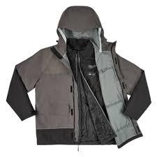 Milwaukee M12 Heated Axis Layer Hydrobreak Rain Shell Gray Kit Select Size 203rn 21