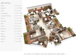 4bhk 4t 9 super area 3075 sq ft apartment