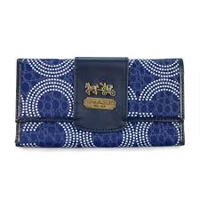 Coach Dot Logo Large Blue Wallets ECW