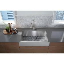 stainless steel apron sink. STERLING Ludington ApronFront Stainless Steel 32 In Single Bowl Kitchen Sink Kit For Apron