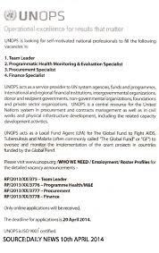 Team Leader Programmatic Health Monitoring And Evaluation