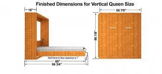 bedroom queen size vertical mount easy diy murphy wall bed