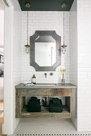floating reclaimed wood sink vanity