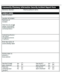 Security Report Template Daily Incident Excel Activity Word Format
