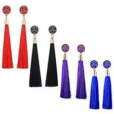 Spiritlele 4 Pack Bohemian Colors Long Tassel ... - Amazon.com
