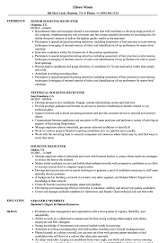 Recruiter Resume Sample Sourcing Recruiter Resume Samples Velvet Jobs 88