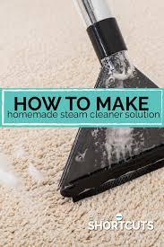 make homemade steam cleaner solution