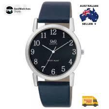 citizen made q amp q q662j502y classic black dial leather strap citizen made q q q662j502y classic black dial leather strap mens watch