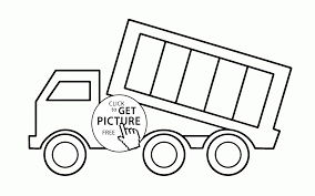 Small Picture Simple Dump Truck coloring page for toddlers transportation