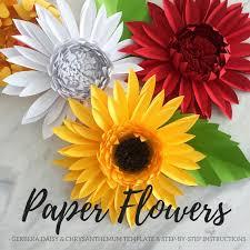 Daisy Paper Flower Paper Flower Template Paper Daisy Template Giant Paper Flower Flower Backdrop Diy Chrysanthemum Template Paper Flower Gerbera