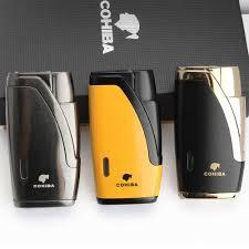 <b>COHIBA</b> Metal Windproof Mini Pocket <b>Cigar</b> Lighter 3 <b>Jet</b> Blue ...