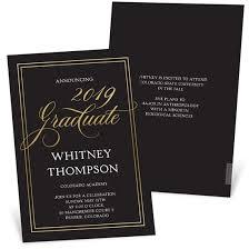Simply Inviting Foil Graduation Announcement