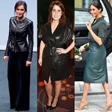 royal las in leather see sses kate and meghan princess beatrice and more in their biker chic looks