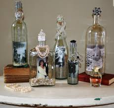 Home Decor With Wine Bottles wine bottles craft Recycled Wine Bottles Mason Jars and Vases 5
