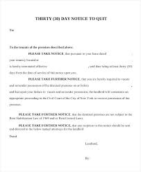 Rent Notice Letter Sample Day Notice Letter Documents In Word Template To Quit