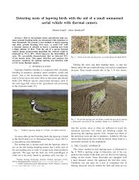 Pdf Detecting Nests Of Lapwing Birds With The Of A Small Unmanned Aerial Vehicle With Thermal Camera