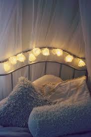 Flower Lights For Bedroom Low Cost Flower Fairy Lights Bedroom Decor Idea
