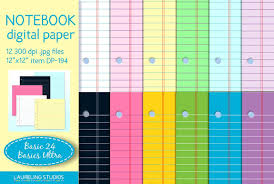 Colored Lined Paper Padsllllll L Duilawyerlosangeles