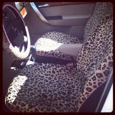my leopard print seat covers cool
