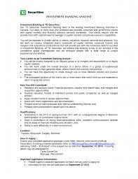 Sample Resume For Investment Banking Resume For Study