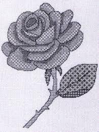 Free Blackwork Embroidery Charts Blackwork Rose Blackwork Rose Blue And Silver