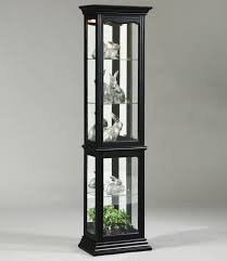 Glass Curio Cabinets With Lights Oxford Black Curio Cabinet By Pulaski Furniture Wolf And
