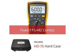Fluke 115 Hd True Rms Multimeter With Hard Case