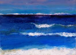 janis blue sea shimmie oil painting on linen 33 x 24cm 12 x 9in this sea painting is inspired by the clear icy blue atmosphere of the baltic sea during