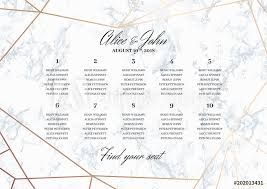 Photo Art Print Wedding Seating Chart Poster Template