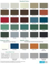 Shingle Color Chart Berridge Cool Metal Roof Colors Berridge Manufacturing Co