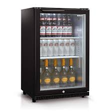 118l single glass door bar fridge in black hus c1 840 blk