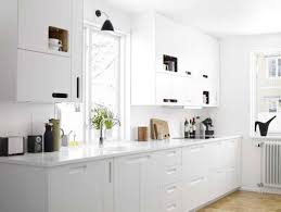 all white kitchen designs. Exellent All Airy All White Kitchen In Designs E