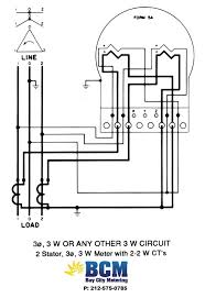 wiring diagrams bay city metering nyc 2 stator 3 wire btmcnct w 2 2w cts