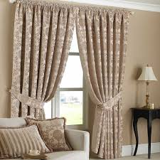 Patterned Curtains Living Room Living Room Beautiful Image Of Living Room Decoration Using Cream