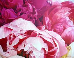 roce andrews pink peonies painting art nz